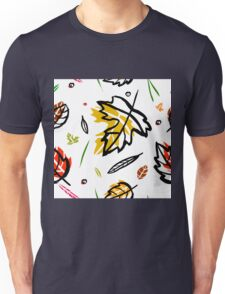 Pattern with autumn elements and templates Unisex T-Shirt