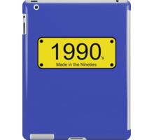 Born in the Nineties T-Shirt - 90s Number License Plate Card iPad Case/Skin