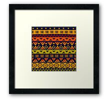 Bright African Pattern Framed Print