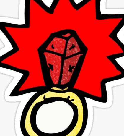 magic ruby ring cartoon Sticker