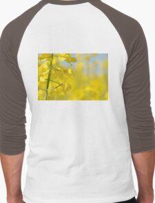 Canola Yellow Is Like Sunshine Men's Baseball ¾ T-Shirt