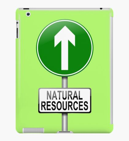Natural resources concept. iPad Case/Skin