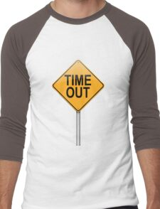 Time out concept. Men's Baseball ¾ T-Shirt