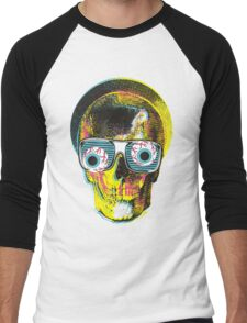 funny skull Men's Baseball ¾ T-Shirt