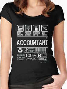 ACCOUNTANT WILL TRAVEL Women's Fitted Scoop T-Shirt