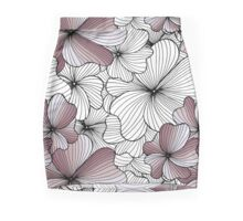 violet flowers pattern Mini Skirt