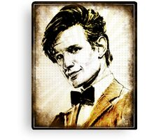 Matt Smith Dr Who Canvas Print