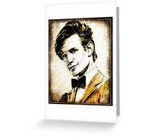 Matt Smith Dr Who Greeting Card