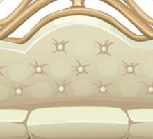 Glitch furniture sofa sofa brasswithyellowcushion Sticker