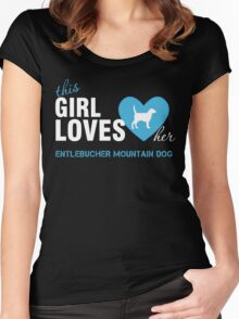 This girl loves Entlebucher Mountain Dog Women's Fitted Scoop T-Shirt