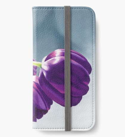 Purple Tulips I. - Oil painting iPhone Wallet/Case/Skin