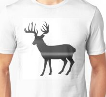 Deer print - Black & White Unisex T-Shirt