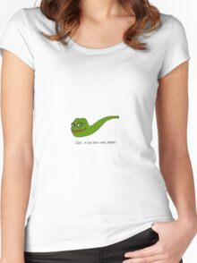 Rare Pepe - Ceci n'est pas une pepe Edition Women's Fitted Scoop T-Shirt