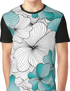 blue flowers pattern Graphic T-Shirt