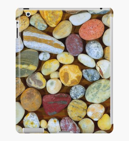 Pebbles from a Cornish beach. iPad Case/Skin