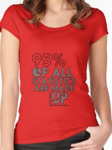 95% of Stats Are Made Up - Funny - Data Graph - Analysts Women's Fitted Scoop T-Shirt