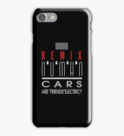 Cars 'E Reg REMIX' design Gary Numan iPhone Case/Skin