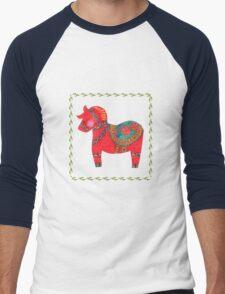 The Red Dala Horse Men's Baseball ¾ T-Shirt