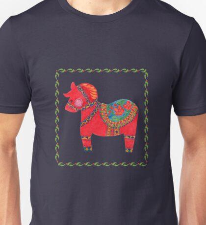 The Red Dala Horse Unisex T-Shirt
