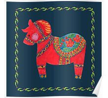 The Red Dala Horse Poster