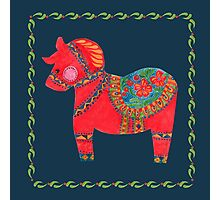 The Red Dala Horse Photographic Print