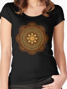 The Astologers Lab Mandala Women's Fitted Scoop T-Shirt