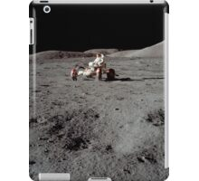 Apollo 17 astronaut driving the Lunar Roving Vehicle. iPad Case/Skin