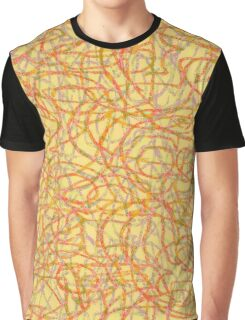 Yellow scribbled lines pattern Graphic T-Shirt