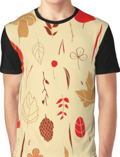 Vector seamless pattern with autumn elements  Graphic T-Shirt