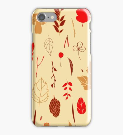 Vector seamless pattern with autumn elements  iPhone Case/Skin