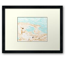 Blue and brown marbling Framed Print