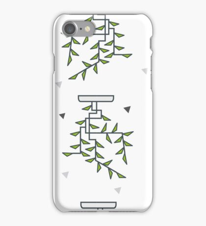 Seamless abstract pattern with green leaves and bunches and white stand. For wrapping paper and background iPhone Case/Skin