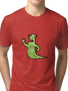 cartoon monster Tri-blend T-Shirt