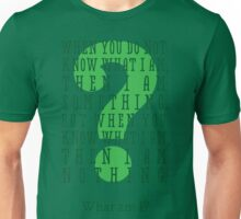 Riddle me this... (tall) Unisex T-Shirt