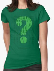 Riddle me this... (tall) Womens Fitted T-Shirt