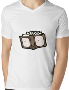 cartoon book Mens V-Neck T-Shirt