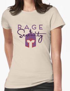 Rage & Serenity (helmet) Womens Fitted T-Shirt