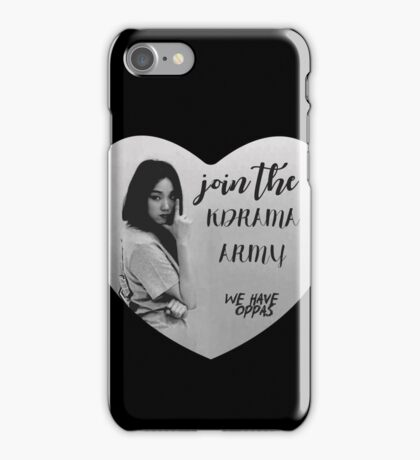 Join the KDRAMA ARMY! - Lee Sung kyung (Kim Bok Joo) iPhone Case/Skin