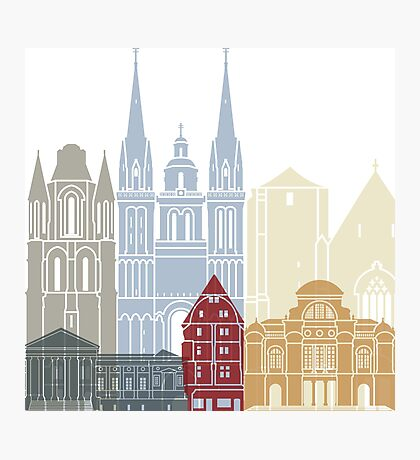 Angers skyline poster Photographic Print