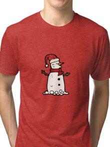 cartoon snowman Tri-blend T-Shirt
