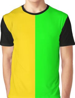 Yellow-Gold and Brite Green Graphic T-Shirt
