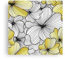 yellow flowers pattern Canvas Print