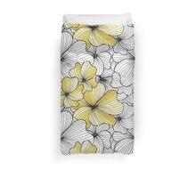 yellow flowers pattern Duvet Cover