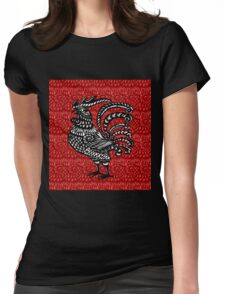 Year of the Rooster Womens Fitted T-Shirt