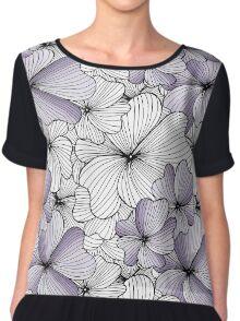 lavander flowers pattern Chiffon Top