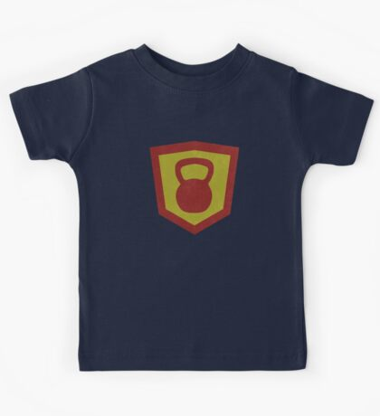 Kettlebell Knight Cool Vintage Design for Weightlifters Kids Tee