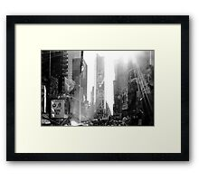 Broadway New York Framed Print