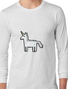 cartoon unicorn Long Sleeve T-Shirt