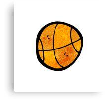 cartoon basketball Canvas Print