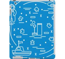 Vector illustration kids toys objects: astronaut, rocket, ship, car, puzzles and other.  iPad Case/Skin